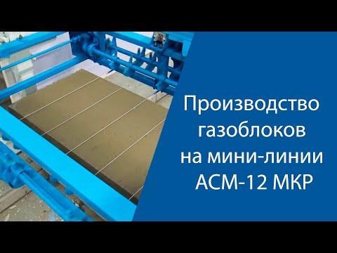 Производство газоблоков на мини-линии АСМ 12 МКР