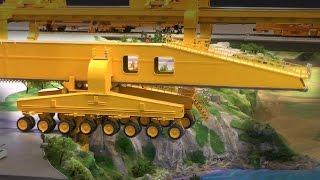 RC Crane: Bridge Building with SLJ900 Bridge Girder | XXL RC Construction Site | Road Work