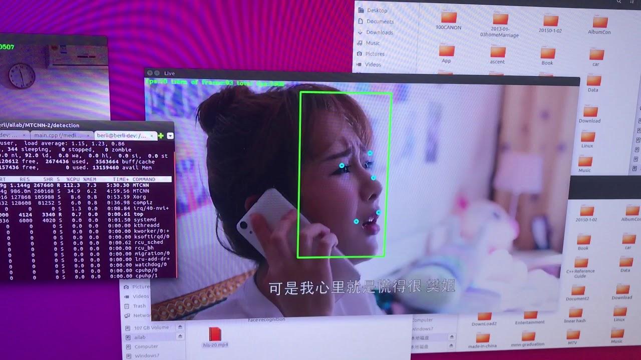 CNN deep learning face detect by MTCNN