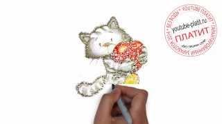 Нарисованные коты и кошки  Как нарисовать кота поэтапно карандашом за 32 секунды