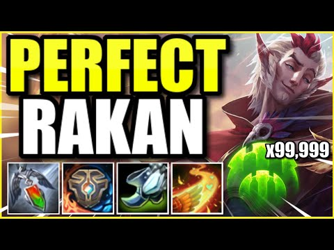 *THIS* IS HOW YOU PLAY RAKAN PERFECTLY! (RAKAN SUPPORT GUIDE BY GRANDMASTER PLAYER)