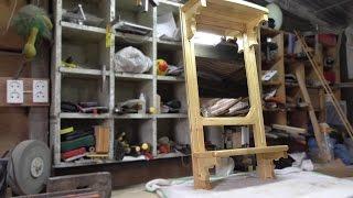 Деревянная рама для зеркала. Полки и отделка | Mirror with shelf(Закончил делать новую деревянную раму с полочками для своего старого зеркала. Изготовил полочки и упоры..., 2015-08-06T09:02:43.000Z)