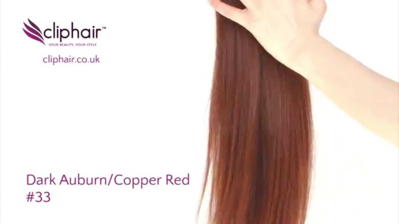 Dark Auburn Hair Extensions 33 By Cliphair Ltd Youtube