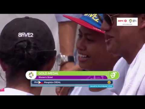 asian games 2018 Skateboard Women's Street Final margielyn didal (HighLights)