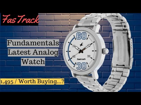 Fastrack Fundamentals White Dial Analog Watch For Men II Unboxing & Review 🔥🔥🔥