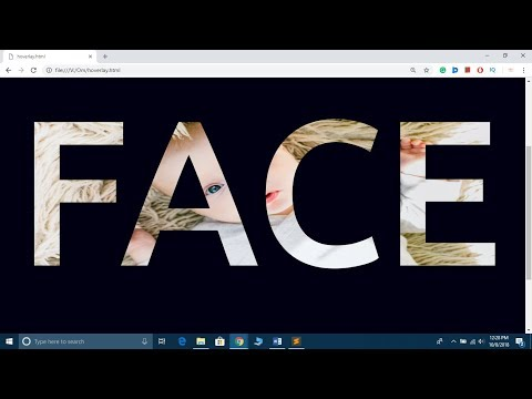 How To Put Image In Text Using HTML And CSS | Text Effects Tutorial
