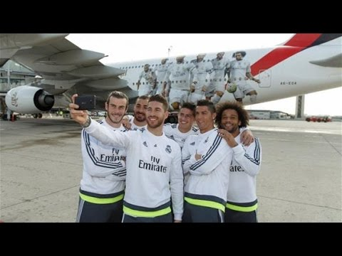 "Emirates Real Madrid star put on the ""Airbus A380"""