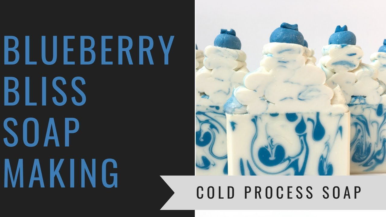 Blueberry Bliss Cold Process Soap, Making and Cutting