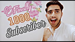 Alhumdullilah 1000 Subscriber Complete Great Journey 🔥