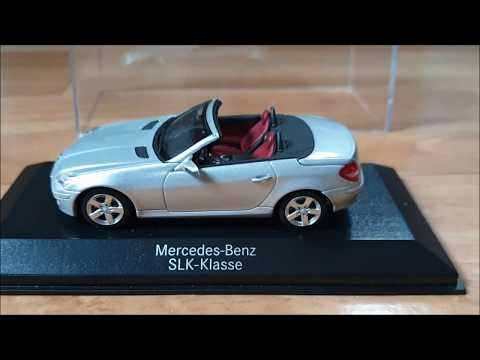 Diecast Mercedes Benz SLK Class 1:43 Scale, MINICHAMPS. Автомодели.Обзор