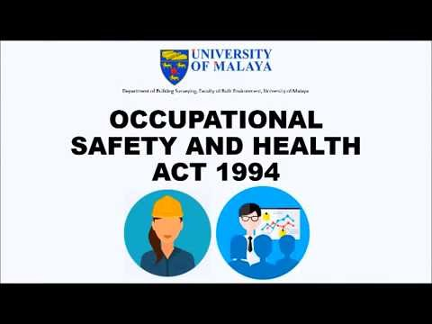 Occupational Safety and Health Act 1994 (Part 1 - 4)