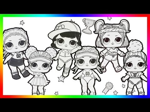 LOL Surprise Dolls Coloring Page Book for Kids KICKS,COURT CHAMP,SHORTSTOP,SPIKE,SPRINTS,TOUCHDOWN