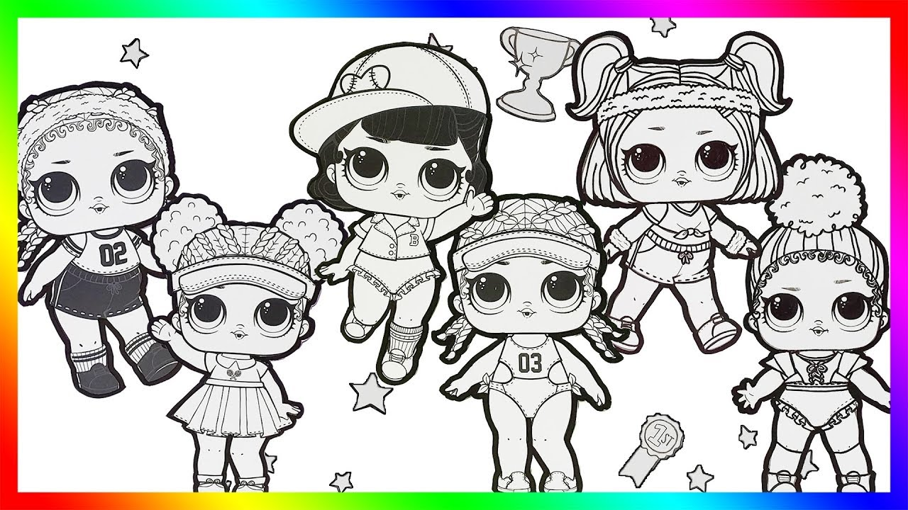 lol surprise dolls coloring page book for kids kicks,court