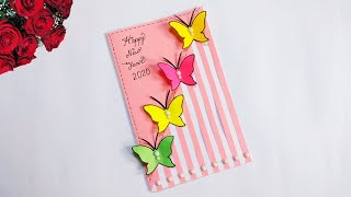 very simple new year card 2020 greeting cards for new year how to make happy new year card easy