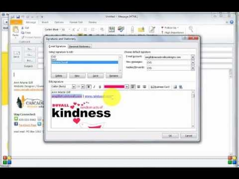 How to: Add your Logo to your Outlook Email Signature - YouTube