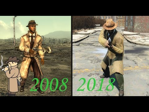 Evolution Of Mysterious Stranger (Fallout) 2008-2018