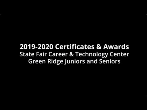 2019-2020 Career and Technology Center Certificates and Awards - Green Ridge High School