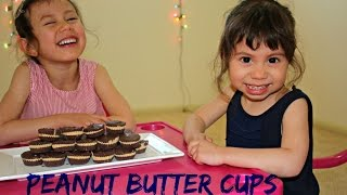 DIY Peanut Butter Cups Recipe with Hanna and Mia