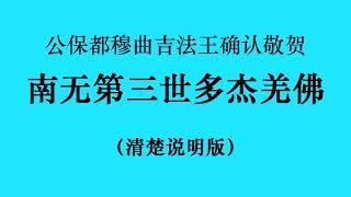 十七世噶瑪巴的上師ー公保都穆曲杰法王确认敬贺 南无第三世多杰羌佛 (国际佛教僧尼总会严正声明20210208)清楚说明版 720p