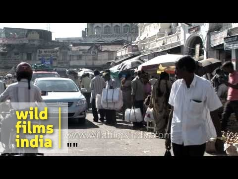 Busy streets of Mysore - India
