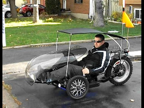 & Trike KMX with windwrap and canopy - YouTube