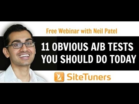 [Webinar] 11 Obvious A/B Tests You Should Do Today featuring Neil Patel