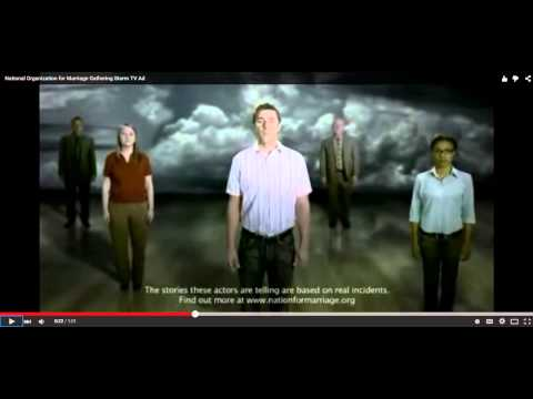 """Activistvictor's Reaction to """"National Organization for Marriage Gathering Storm TV ad."""""""