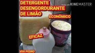 DETERGENTE DESENGORDURANTE DE LIMÃO