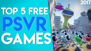 Top 5 Free PSVR Games! | 1 Year After The Release Of PSVR!