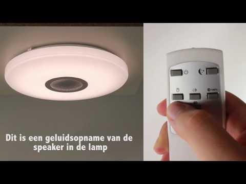 Badkamerlamp LED | plafondlamp met speakers | Straluma