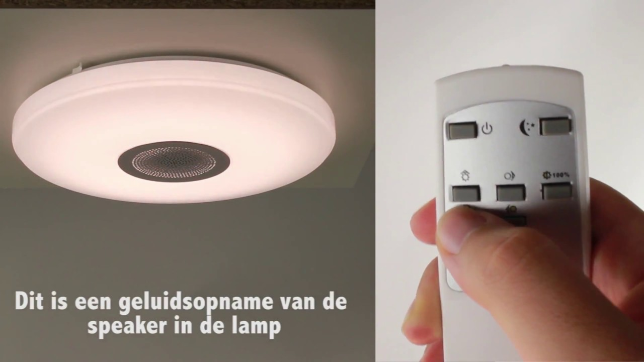 Badkamerlamp LED   plafondlamp met speakers   Straluma   YouTube Badkamerlamp LED   plafondlamp met speakers   Straluma