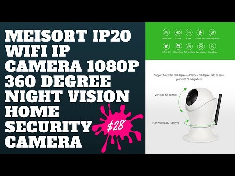 Meisort IP20 Wifi IP Camera 1080P 360 Degree Night Vision Home Security Camera