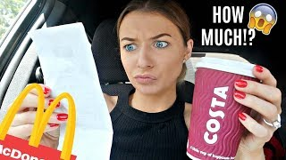 LETTING THE PERSON IN FRONT OF ME DECIDE WHAT I EAT!! / *DIFFERENT VERSION OF THE CHALLENGE*