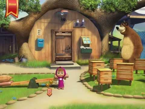 Маша и Медведь Подготовка к школе , развивающая игра!!!