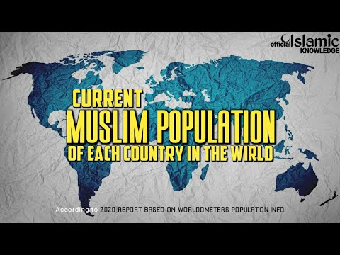 CURRENT MUSLIM POPULATION OF EACH COUNTRY IN THE WORLD