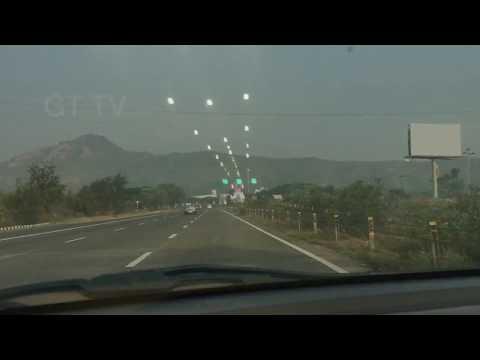 Mumbai Pune Expressway time lapsed. Indian 6 lane highway. Mumbai Pune jam
