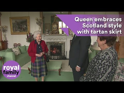 The Queen embraces Scotland style with tartan skirt at Balmoral