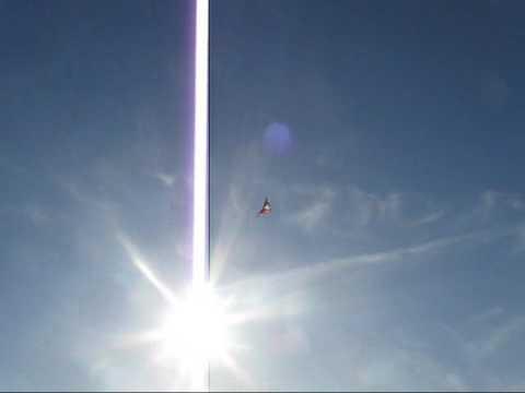 D.J. flys her first sport kite...Flying Wings kites... the Spider