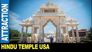 Hindu temple hand-carved marble BAPS Shri Swaminarayan Mandir   Jarek in Bartlett Illinois USA
