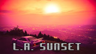 2 Hour Synthwave MIX - L.A. Sunset // Royalty Free No Copyright Background Music