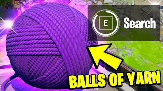 Find BALLS OF YARN at CATTY CORNER Locations - Fortnite