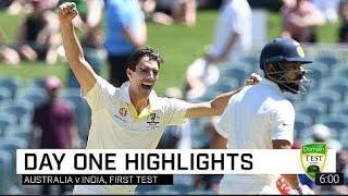 DAY-1 Highlights Pujara 123 Run    India vs Australia