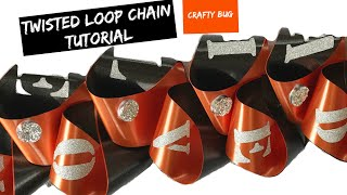 Homecoming mum TWISTED LOOP CHAIN step by step instructions