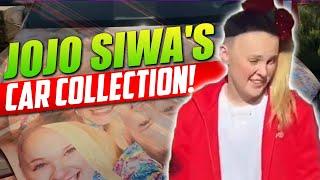 Jojo Siwa shows me her personal car collection! (Custom Tesla) #Shorts