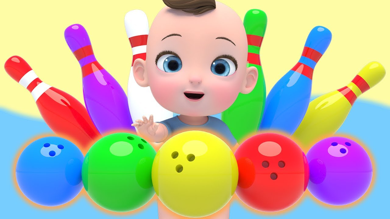 Learn Color with Finger Family Song Bowling 볼링 공 핑거패밀리 영어동요 Nursery rhymes 라임이와 함께 재미있는 영어 공부 해봐요!