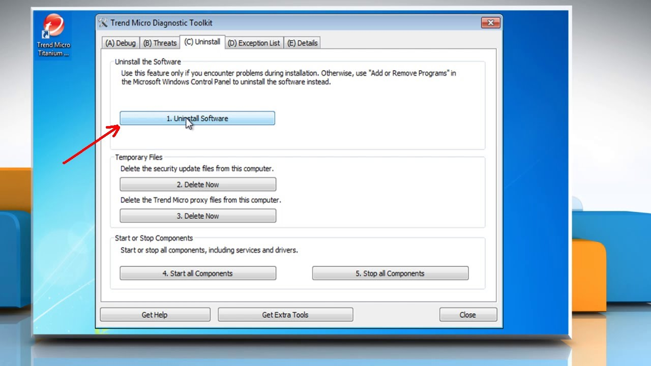 How to Uninstall Trend Micro® using the Removal Tool