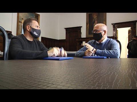 Firma convenio Manuel Baltar y José García sobre el OUFF 24.9.20