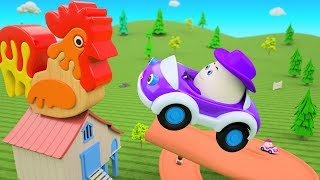 Cartoon Egg House - Learning Numbers for Children with Cowboy Eggs Duck Cars 3D Kids Educational
