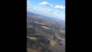 Flight landing from Atlanta to Jackson Mississippi