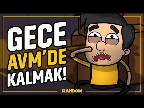 GECE ALIŞVERİŞ MERKEZİNDE KALMAK! | YAKALANDIK! ( TÜRKÇE ANİMASYON )